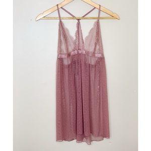 Victoria Secret Lace Lingerie Teddy in Blush Rose